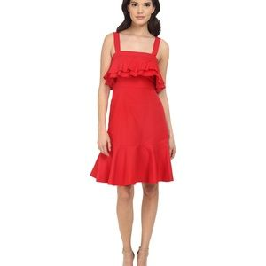 NWT Jill Stuart Red Spagetti Strapped shor…